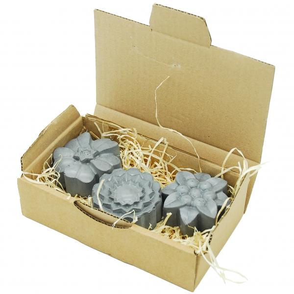 Decoratieve set van beton Fhleure grijs in doos
