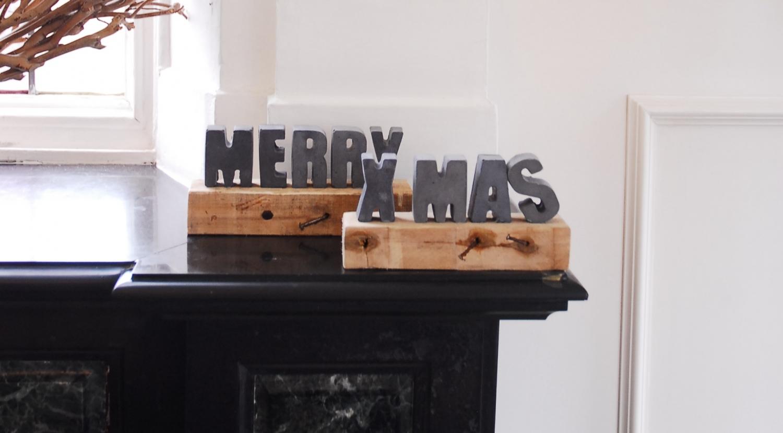 merry xmas decoratie beotn hout
